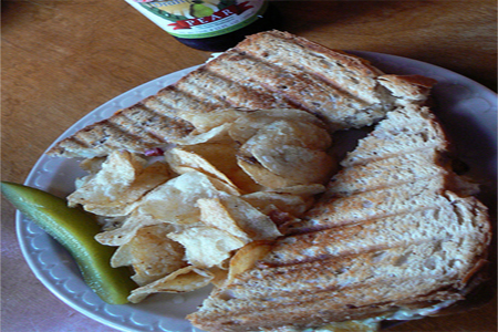 tuna diet melt on a plate from flickr.com
